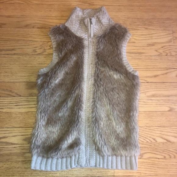 Fenn Wright Manson Jackets & Blazers - Taupe faux fur sweater vest